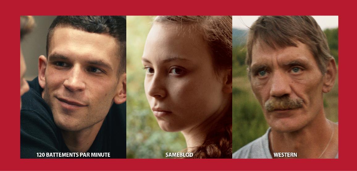 Collage des trois films encore en compétition