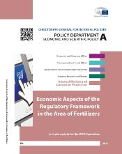 "Front page of the study ""economic aspects of the regulatory Framework in the area of Fertilizers"