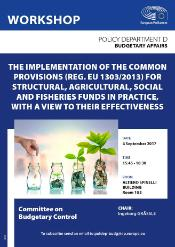 Poster on Workshop Policy Department D - Budgetary Affairs - Committee on Budgetary Control