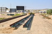 New railway tracks being built near Lüderitz, Namibia