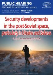 SEDE Hearing Security developments in the post-Soviet space, particularly in Ukraine and Belarus
