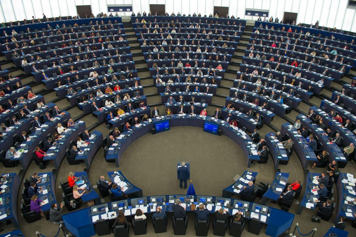 Jean-Claude Juncker lors du débat sur l'état de l'Union à la plénière de septembre à Strasbourg. © Union européenne 2017 - PE
