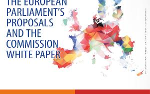 A poster for the ICM meeting on the future of Europe with an image of the map of the EU