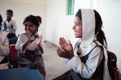 Girls in a Kindergarten in Bagga Sheikhan near Rawalpindiin, Punjab Province (Pakistan).