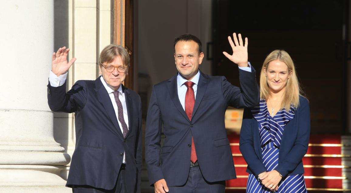 Guy Verhofstadt with Leo Varadkar and Helen McEntee © European Union 2017 -EP