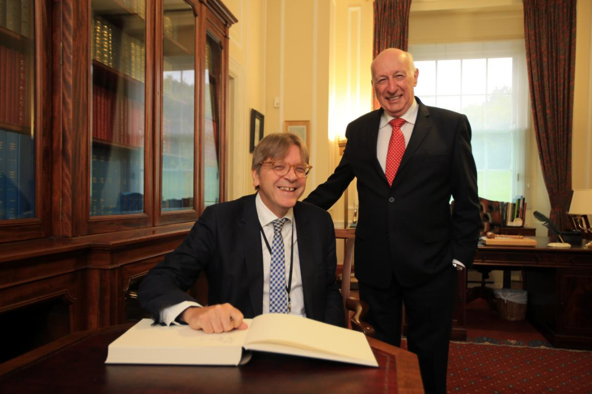 Guy Verhofstadt with Robin Newton