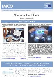 front page of the IMCO newsletter - issue 84 - September 2017