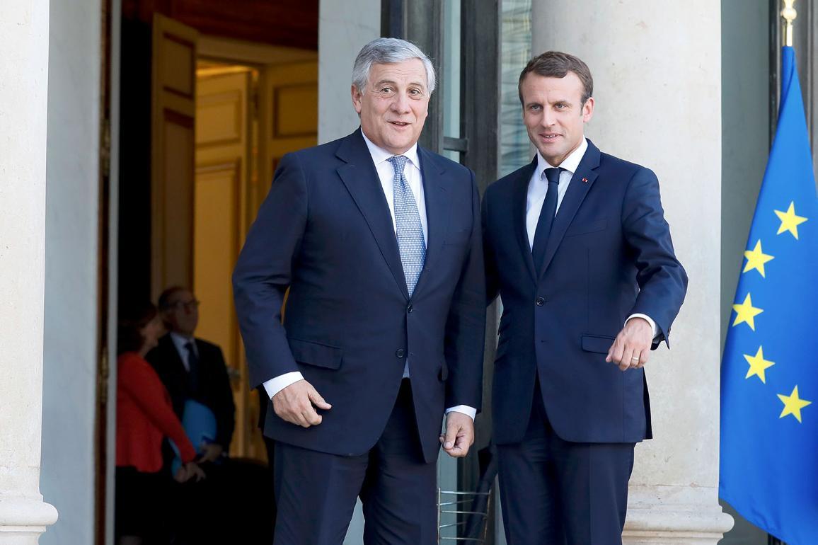 President Tajani and President Macron_