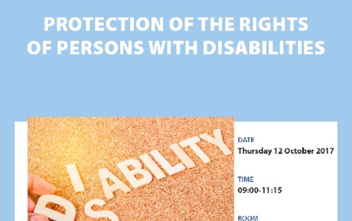 Protection of the rights of persons with disabilities