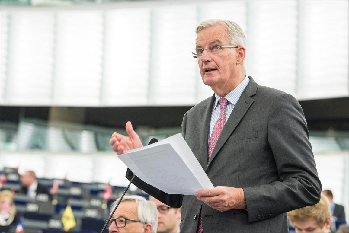 "Michel Barnier, Chief Brexit negotiator, during the EP plenary debate on the ""State of play of negotiations with the United Kingdom"""