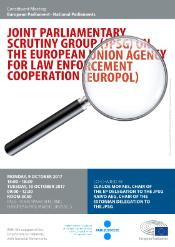 Poster of the constitutive meeting of the joint Parliamentary Scrutiny Group on Europol