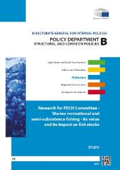 front page of the research for PECH committee on Marine recreation and semi-substance fishing