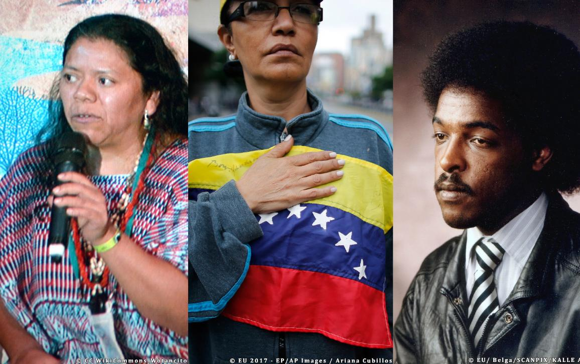 Hypothesis (B) Sakharov finalists: Aura Lolita Chavez Ixcaquic, Democratic Opposition in Venezuela and Dawit Isaak.