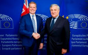 Hon. Tony Smith MP, Speaker for the Australian Parliament with Presdient Tajani
