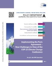Implementing the Paris Agreement – New Challenges in View of the COP 23 Climate Change Conference