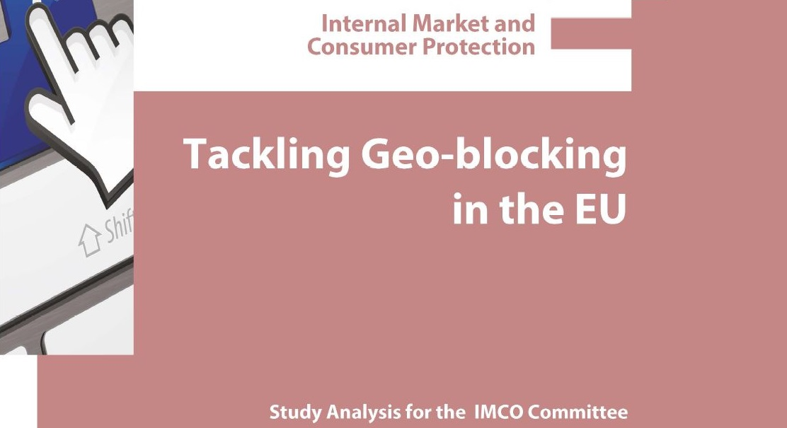 Front page of the study on tackling geo-blocking in the EU