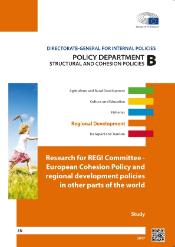 Cover page of a study on European Cohesion Policy and regional development policies in other parts of the world, Research for REGI Committee, POL DEP B, Structural and cohesion policies