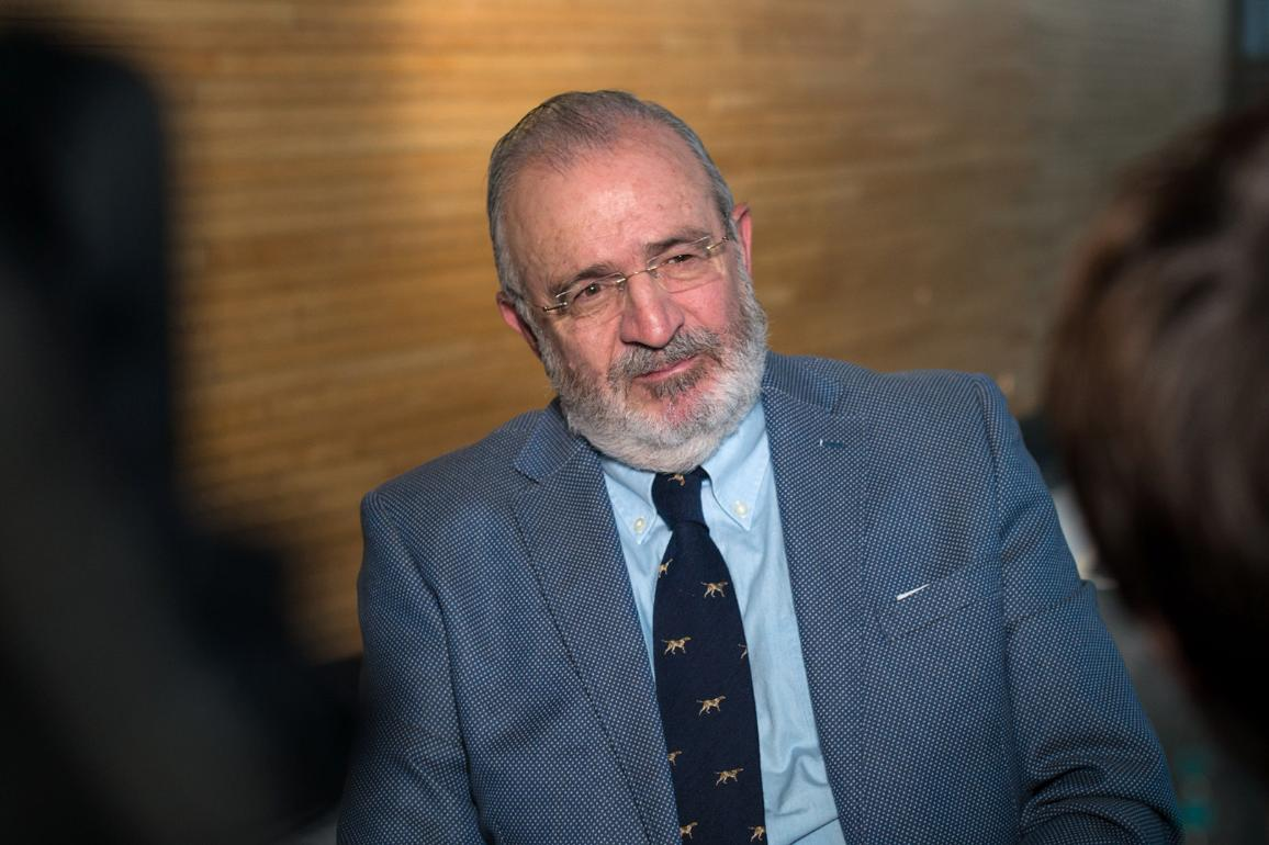 Agustín Diaz de Mera a ser entrevistado