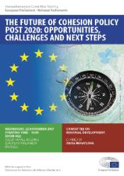Poster of the Interparliamentary Committee Meeting between the European Parliament and the National Parliaments on the Future of Cohesion Policy post 2020: opportunities, challenges and next steps, Committee on Regional Development