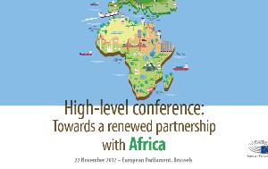 infographic illustration on high-level conference towards a renewed partnership with Africa