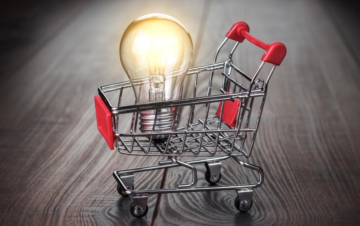 shopping trolley + bulb