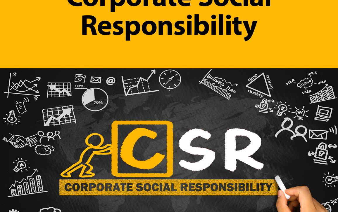 In the upper part of the poster, there is the title of the committee and the date, time and location of the hearing on the left and Parliament's logo on the right. Below is the title of the hearing. Below the title there is a picture with a stickman pushing the CSR letters. Background colours are black and yellow.
