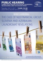 "PANA Public hearing on ""Money Laundering: The case of NLB Financial Group Slovenia and Azerbaijan Laundromat revelations"" - 28 November 2017"