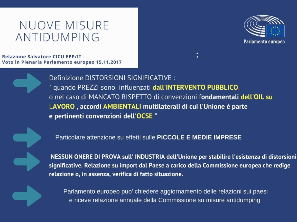 Nuove misure antidumping, inforgrafica