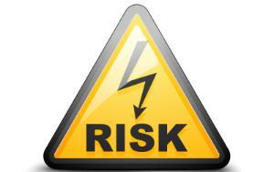 Risk Electricity signage