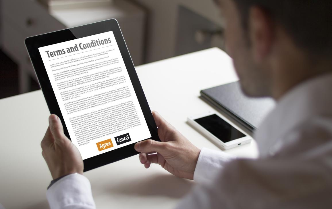 Terms and Conditions of an online contract ©AP Images/European Union-EP