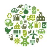 Environmental Protection Icons in Circle Shape