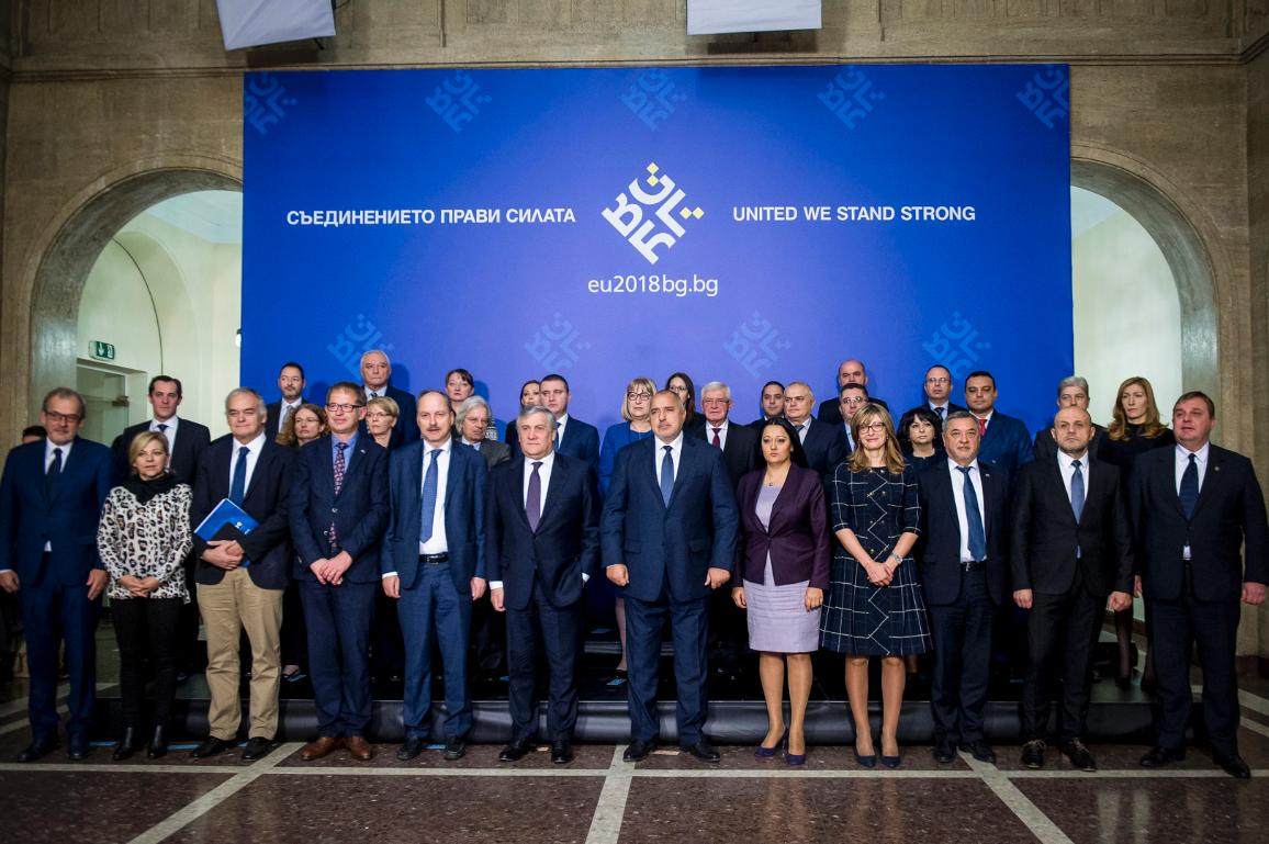 Family photo of the Conference of President in Sofia with the Bulgarian PM Boyko Borissov