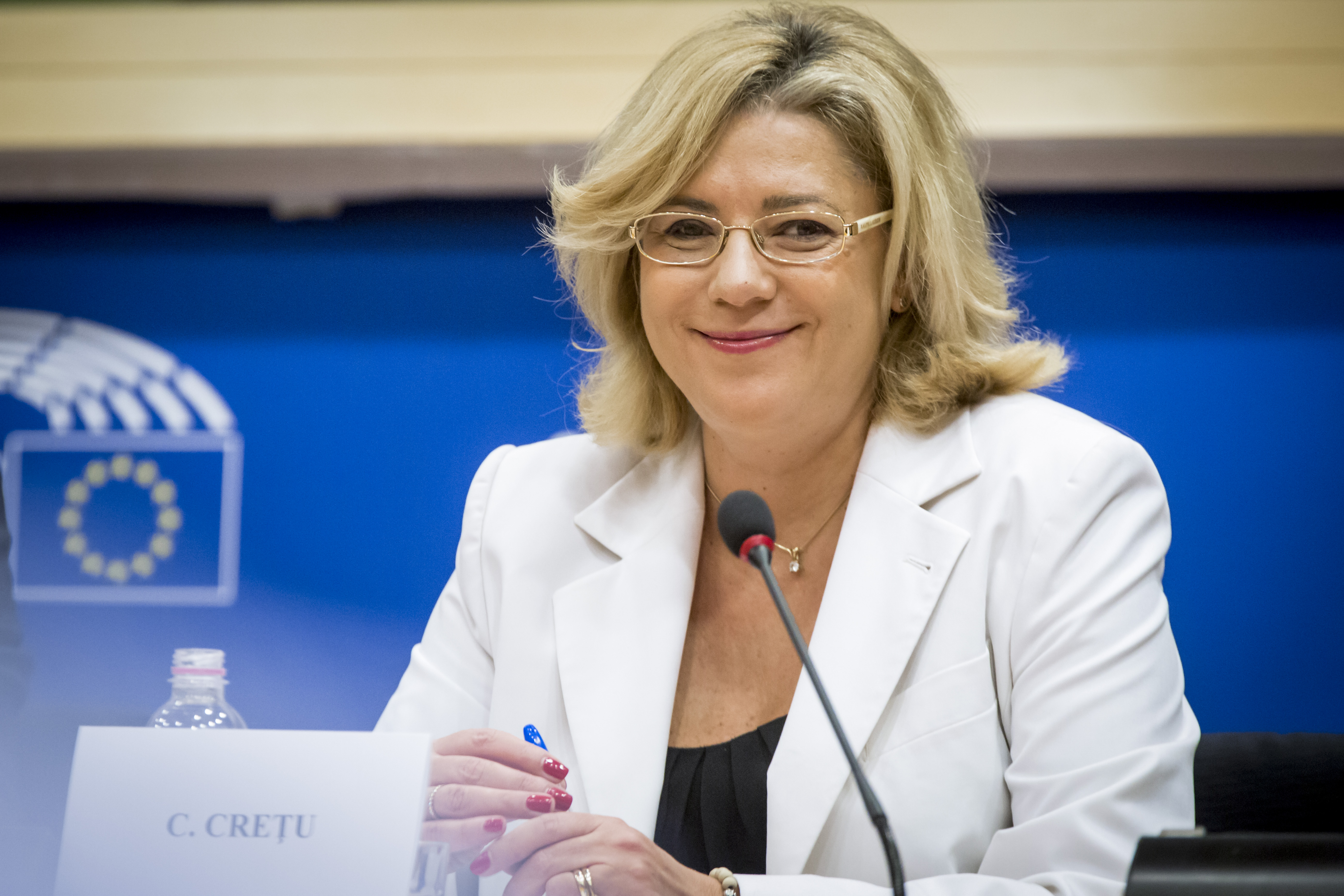 Photo of Corina Cretu, Commissioner for Regional Policy at the European Parliament, REGI Committee meeting