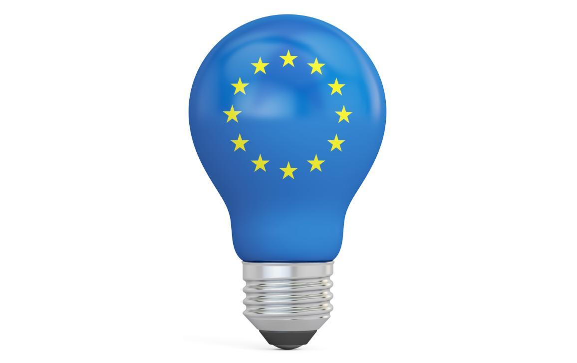 European Union flag Light bulb