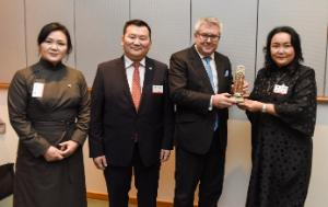 a gift for the European Parliament from the State Great Khural of Mongolia