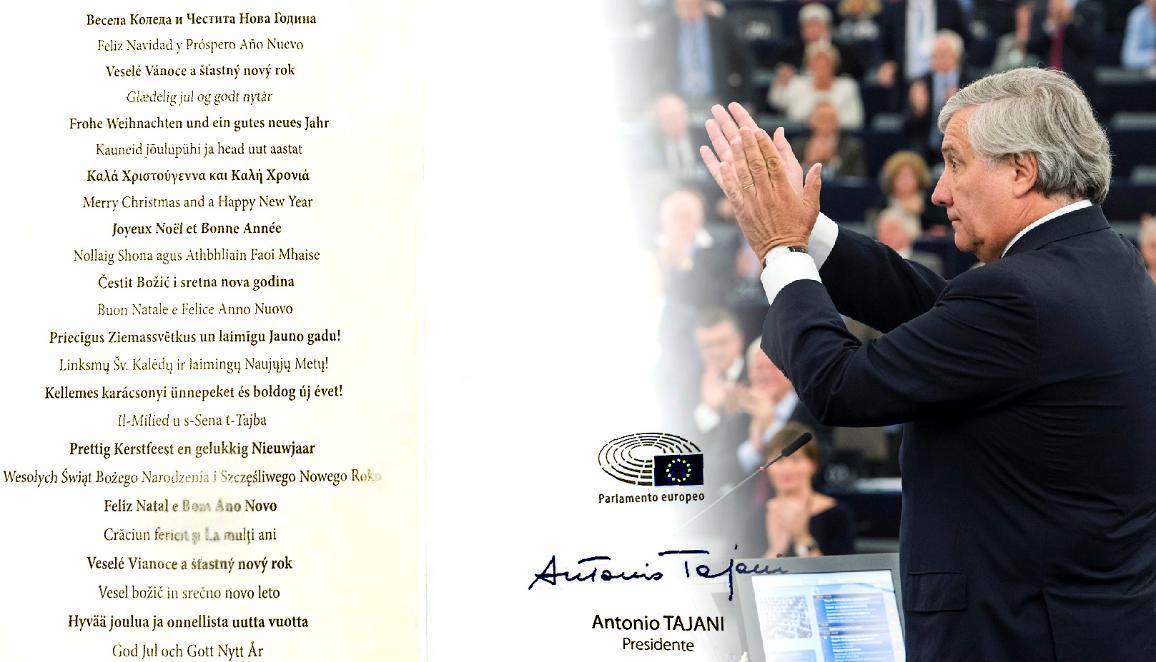 Photo des voeux du Président du Parlement européen, Antonio Tajani