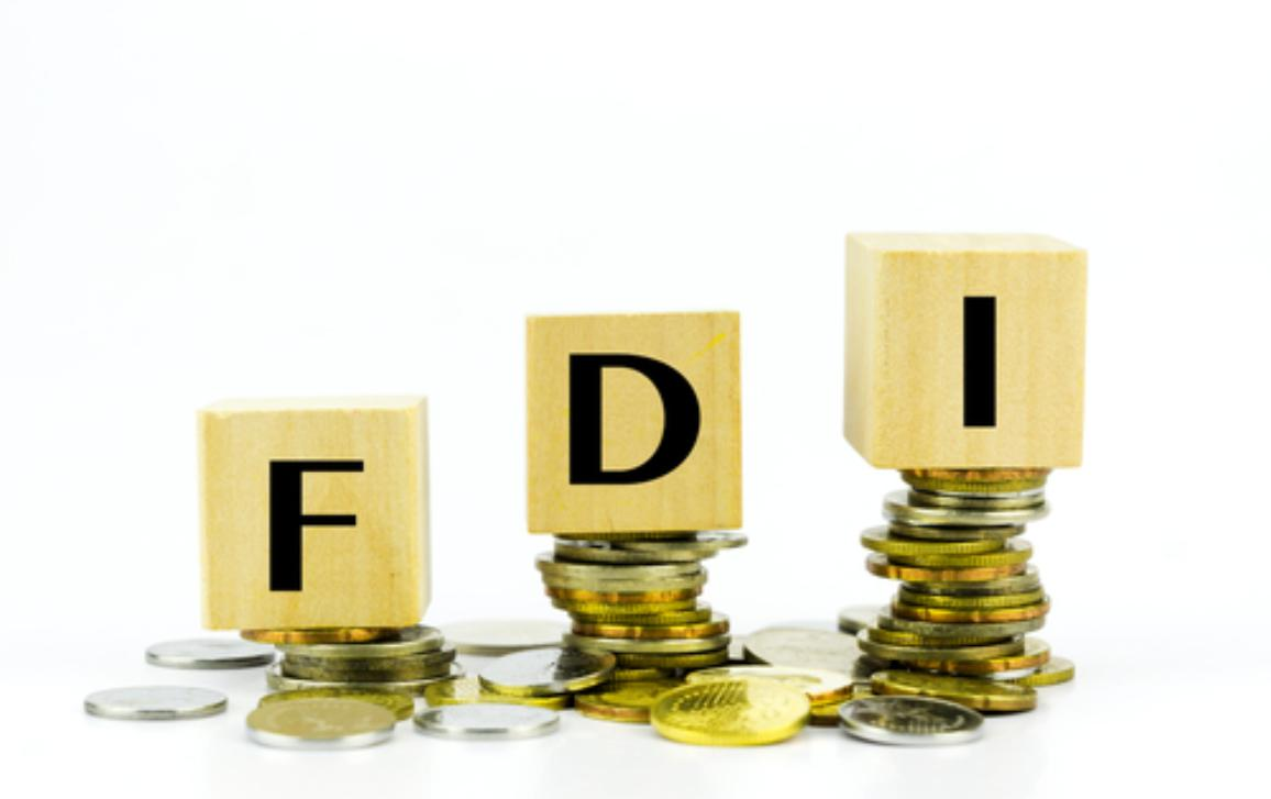 Finance Concept with Stack of Coins - FDI (Foreign Direct Investment) written on