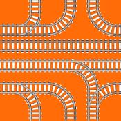 Illustration of rail tracks joining each other