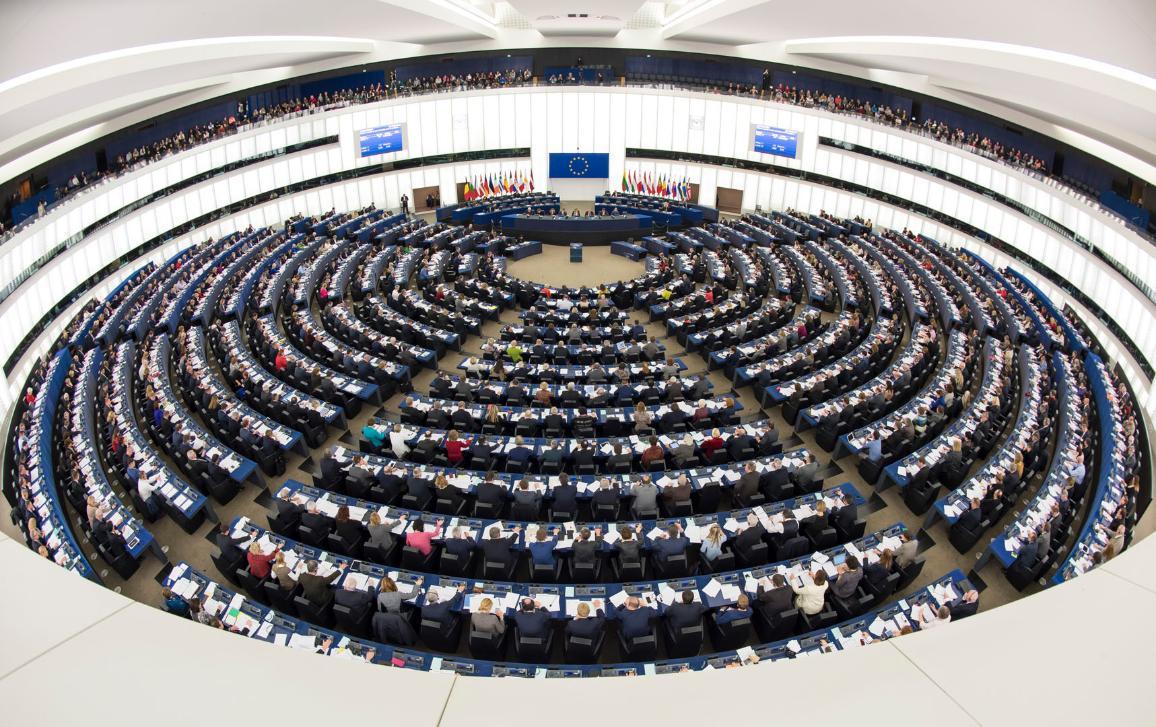 Fotó az EP strasbourgi plenáris ülésterméről