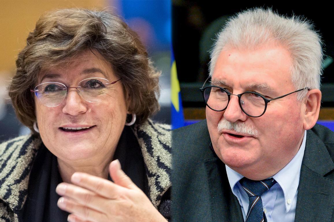MEP Anna GOMES and MEP Werner LANGEN _