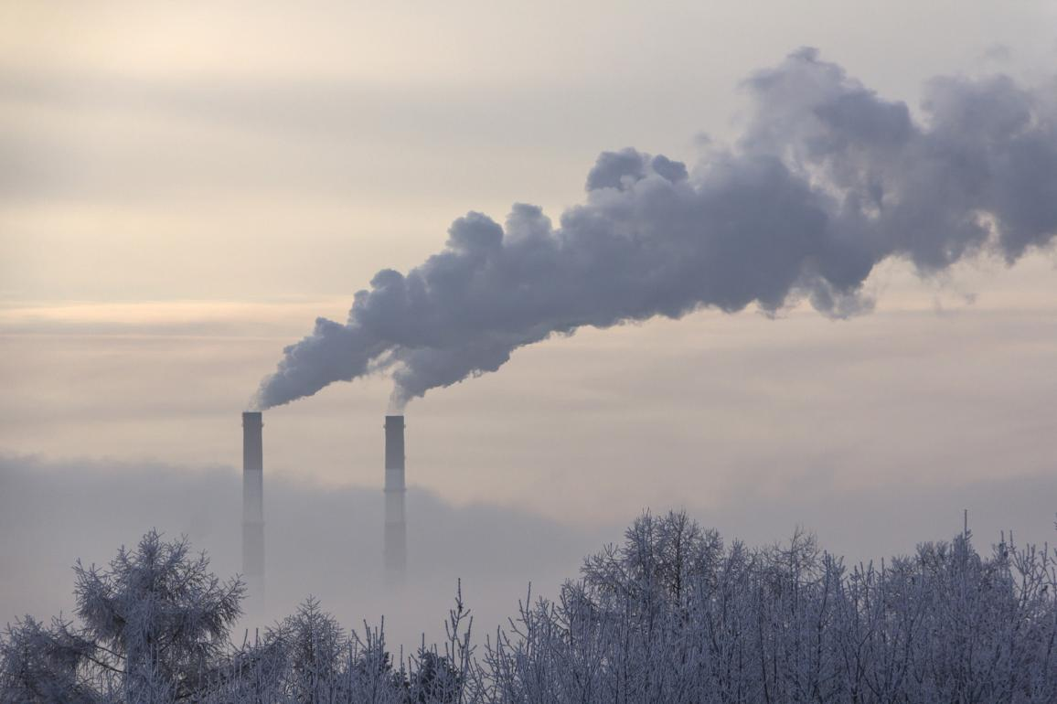 pipe emissions into the atmosphere, on the horizon ©AP Images/European Union-EP