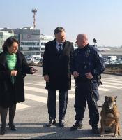 Special Committee on Terrorism visits Zaventem airport