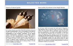 Selected news - front page of IMCO newsletter - issue 90