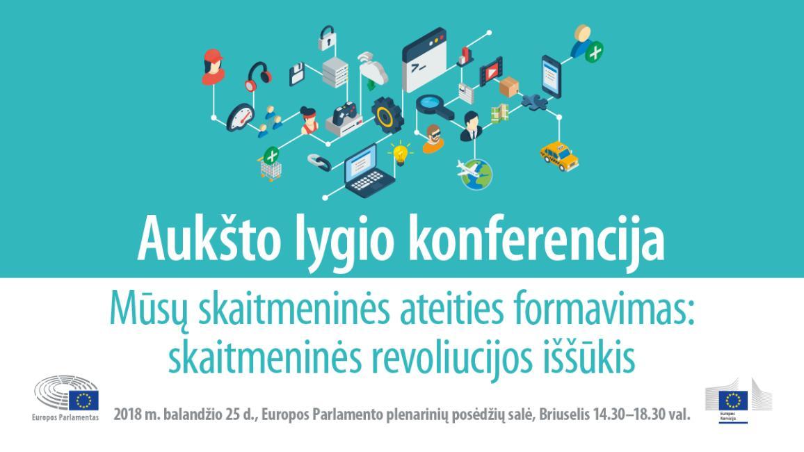 Europos Parlamente – konferencija apie skaitmeninę ekonomiką