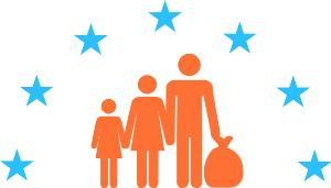 illustration human rights - family