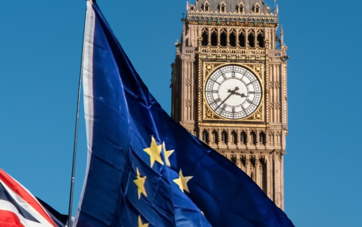 European Union flag in front of the Big Ben Brexit EU