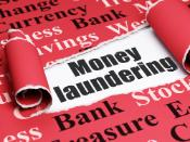 Image with the words Money laundering on it