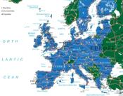 Map showing Europe and the European Union in particular