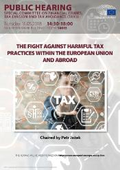 """Special Committee on Financial Crimes, Tax Evasion and Tax Avoidance (TAX3) - Public hearing on """"The fight against harmful tax practices within the European Union and abroad"""""""