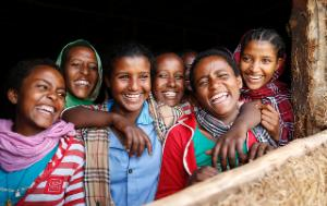 A group of Ethiopian girls